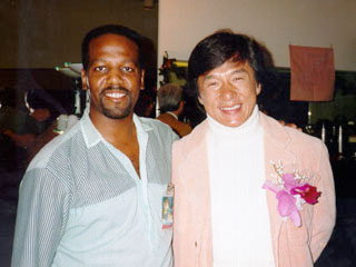 Rich Haynie with Jackie Chan